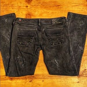 Diesel Industry Black Distressed Jean Straight Leg
